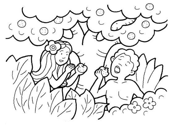 30 Atividades Biblicas De Adao E Eva Para Imprimir E Colorir